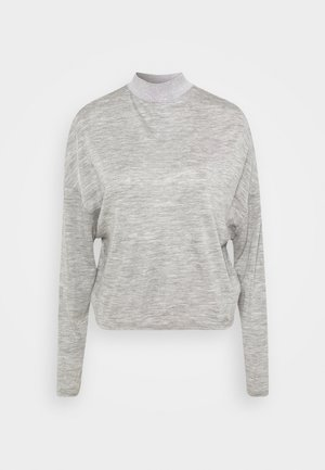 CHAHIDA - Top sdlouhým rukávem - light melange grey