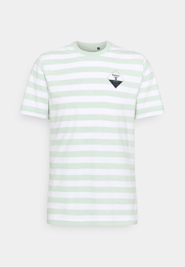 COAST TEE - Print T-shirt - dusty mint