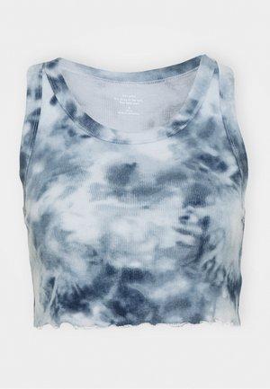 CROP TANK - Pyjamasoverdel - blue wash