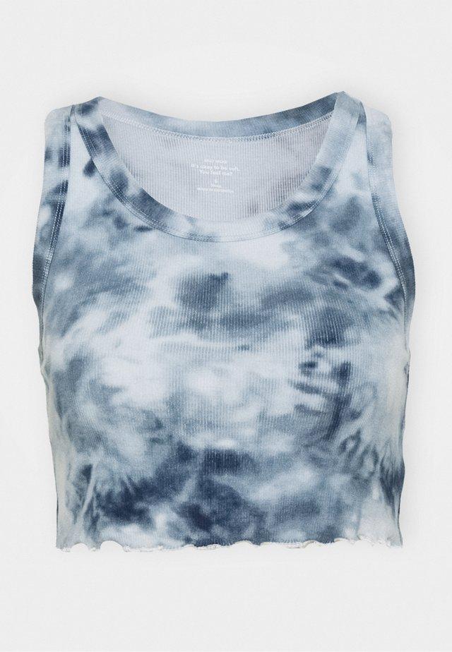 CROP TANK - Nachtwäsche Shirt - blue wash