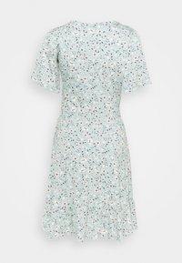 Esprit - FRILLS - Jersey dress - light aqua green - 1