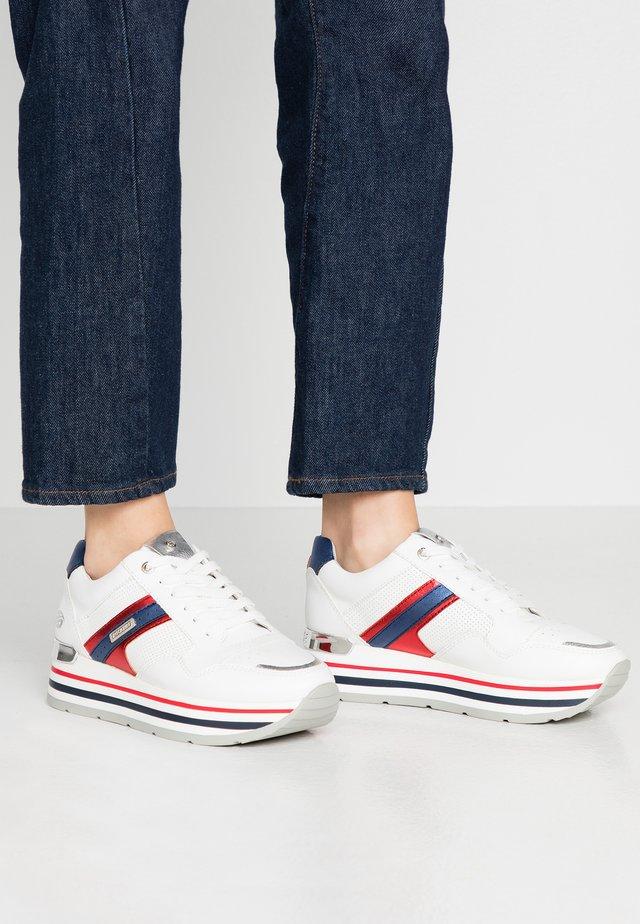 Sneakers basse - weiß/multicolor