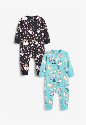 2 PACK  - Pyžamo - black, turquoise