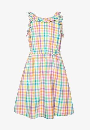 KATIA DRESS GINGHAM - Kjole - ivory/rainbow