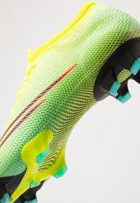 Nike Performance - MERCURIAL VAPOR 13 PRO FG UNISEX - Fotbollsskor fasta dobbar - lemon/black/aurora green - 5