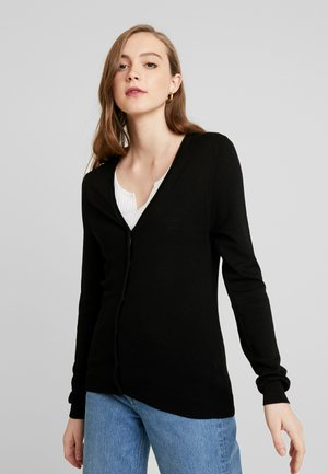 VMNELLIE GLORY LS V-NECK CARDIGAN N - Cardigan - black