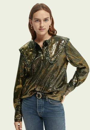 Long sleeved top - gold coloured