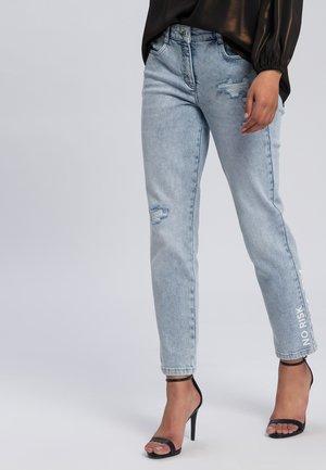 Straight leg jeans - light blue denim varied