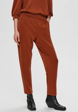 SLFTENNY ANKLE PANT - Trousers - brown