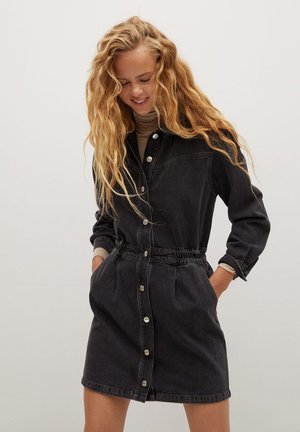 LUNA - Robe en jean - black denim