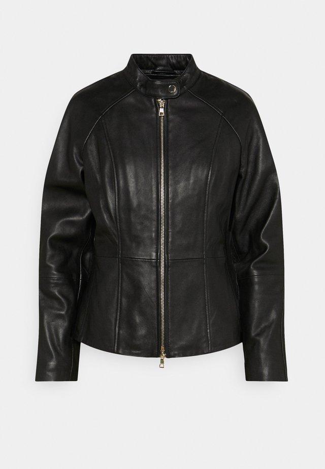 JOSIE - Leren jas - black