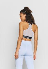 Calvin Klein Performance - MEDIUM SUPPORT BRA - Sportovní podprsenky se střední oporou - sweet blue - 2