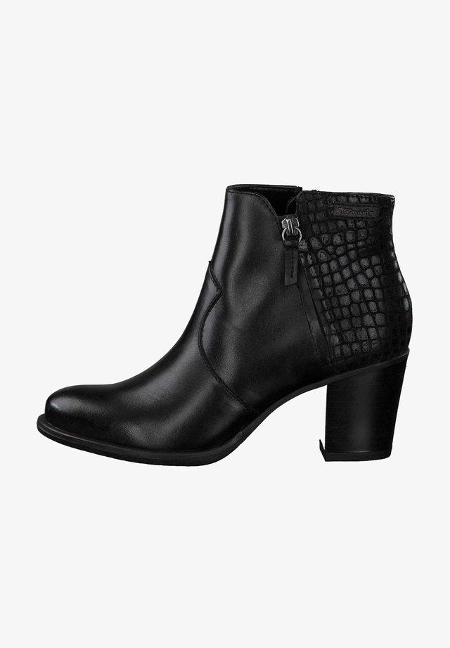 Korte laarzen - blk/croco met. 97