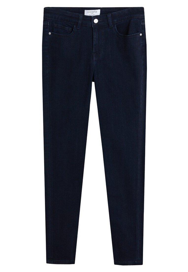 Violeta By Mango Velvet - Jeans Skinny Fit Intense Dark Blue/mørkeblå