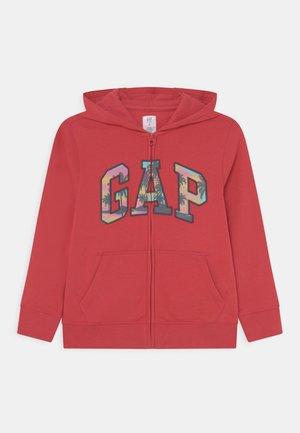 BOYS LOGO - Zip-up sweatshirt - weathered red
