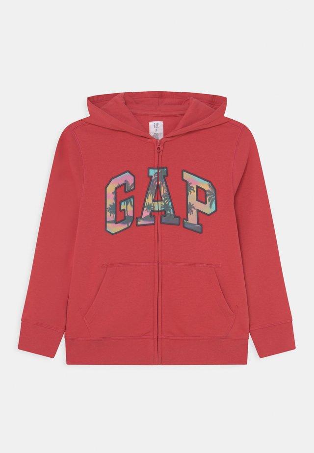BOYS LOGO - Zip-up hoodie - weathered red