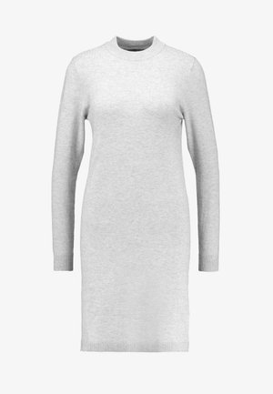OBJTHESS DRESS - Strikket kjole - light grey melange
