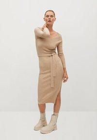 Mango - GOLETA - Jumper dress - lys/pastelgrå - 0