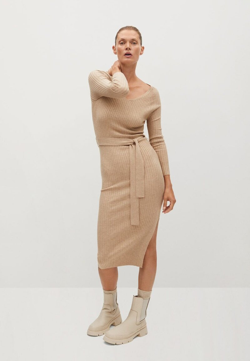 Mango - GOLETA - Jumper dress - lys/pastelgrå