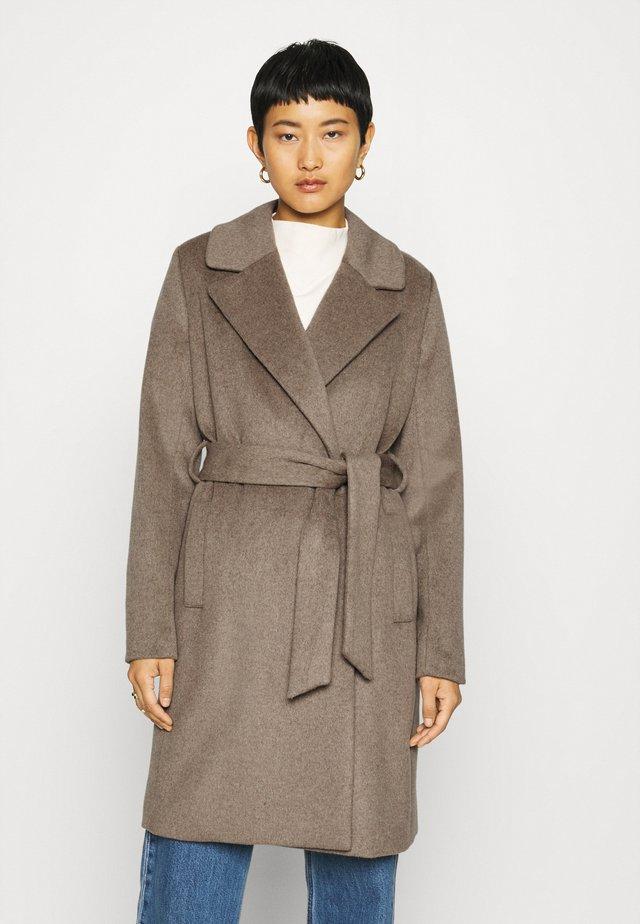 TANNI - Classic coat - greige melange