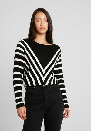 NMARIA L/S BOATNECK KNIT - Jumper - black