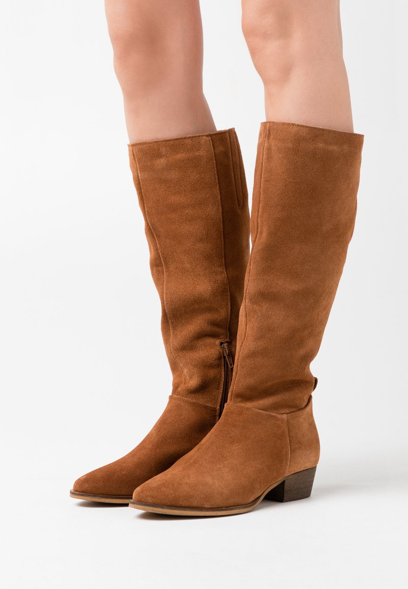 Anna Field - LEATHER  - Vysoká obuv - brown