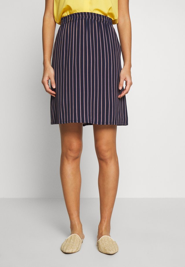 SKIRT WITH BOLD STRIPES - Spódnica trapezowa - summer night