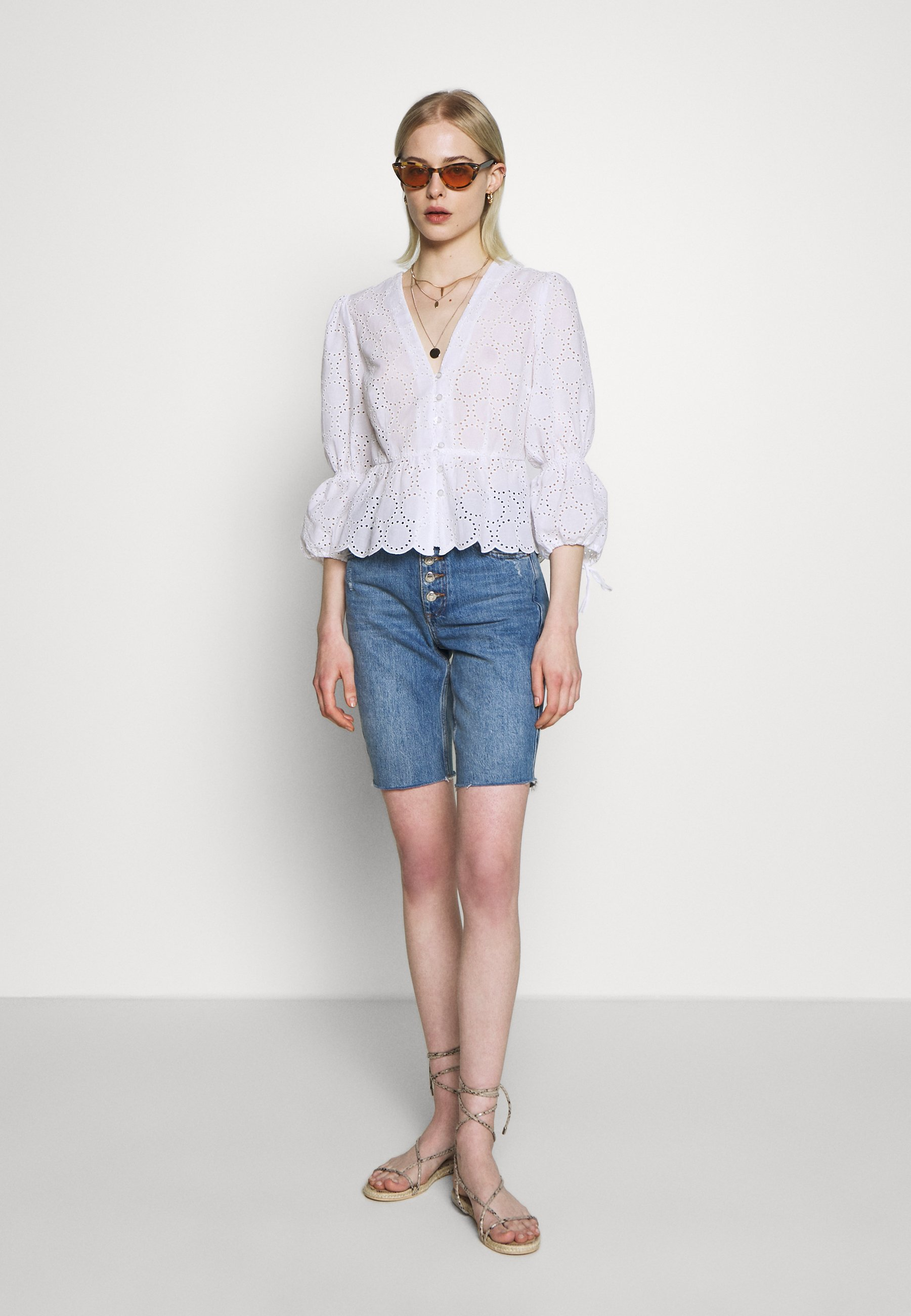 IVY & OAK BROIDERY ANGLAISE  - Blouse - bright white