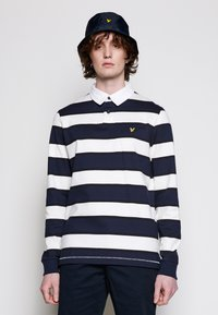 Lyle & Scott - STRIPED RUGBY RELAXED FIT - Piké - dark navy - 0