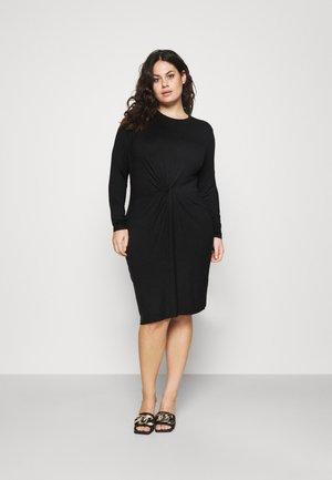 PCNEORA KNOT DRESS  - Jersey dress - black