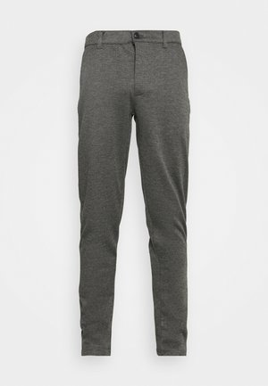 DAVE BARRO - Trousers - medium grey melange
