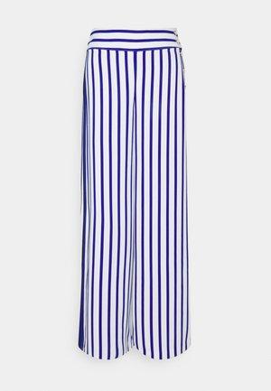 MARGIT WIDE LEG PANT - Trousers - sapphire star/white