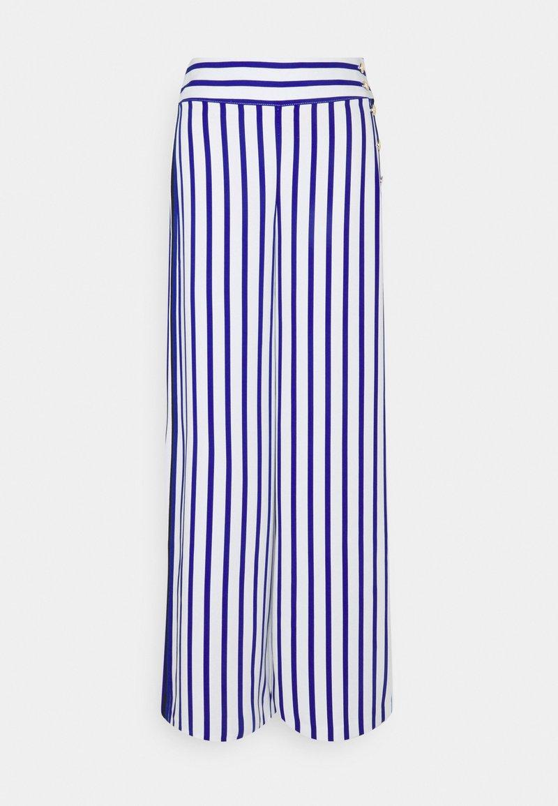 Lauren Ralph Lauren - MARGIT WIDE LEG PANT - Kalhoty - sapphire star/white