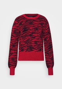 Calvin Klein Jeans - ZEBRA  - Jumper - red hot - 5