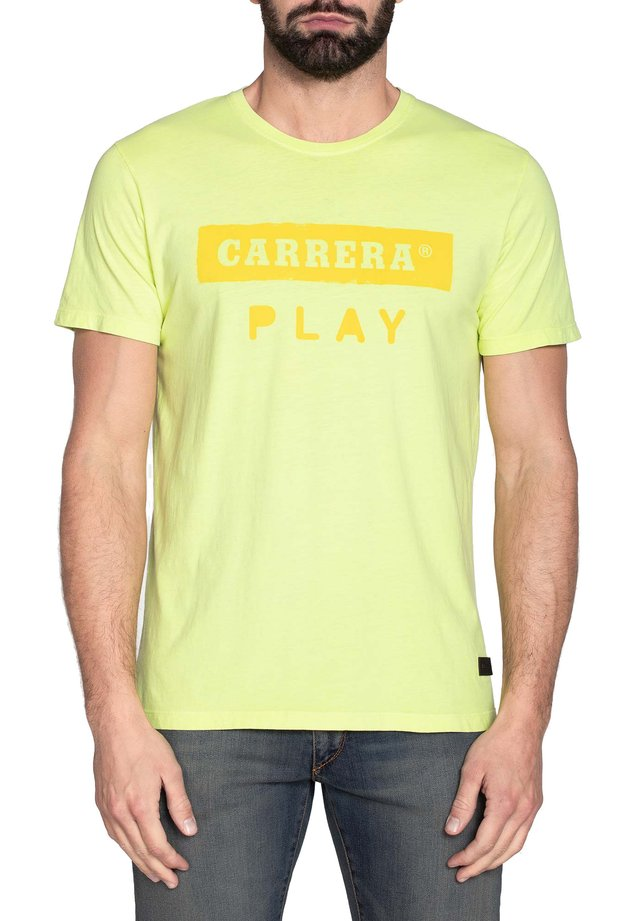 T-shirt con stampa - giallo