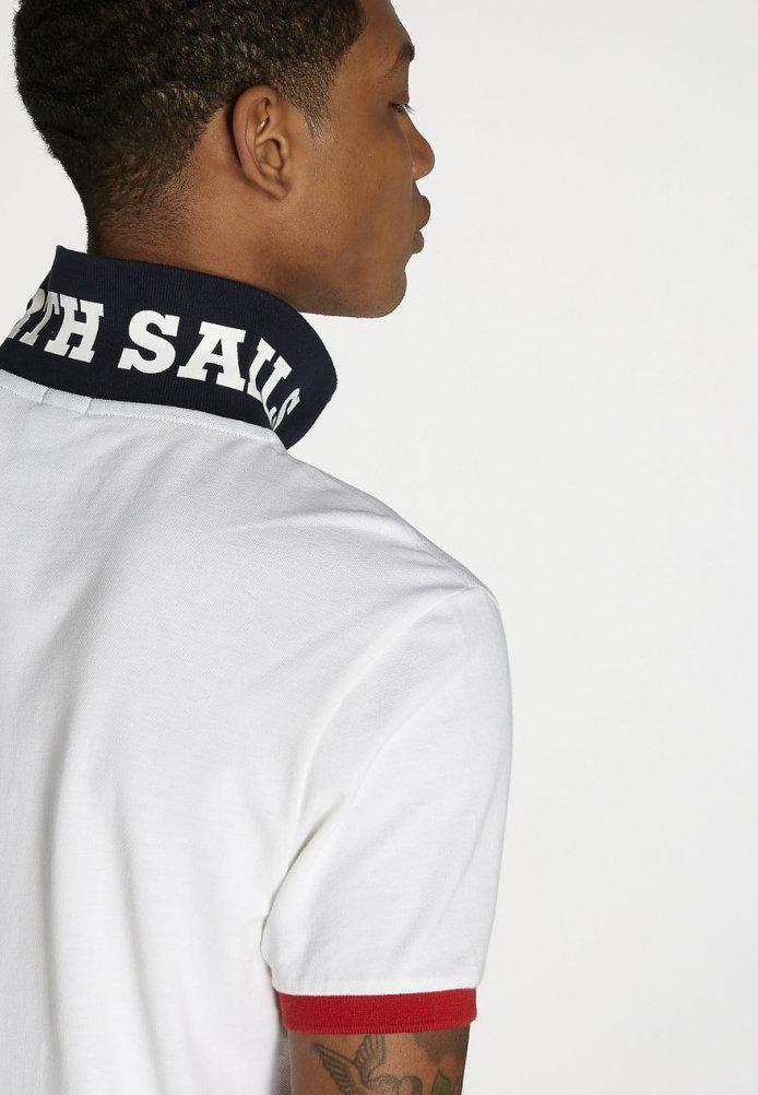 North Sails MAZZARO  - Poloshirt - white/hellgrau - Herrenbekleidung RCC0N