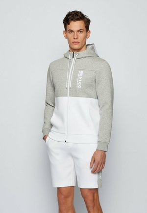 SAGGY - Zip-up hoodie - white