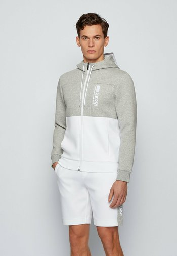 SAGGY - Zip-up sweatshirt - white