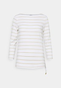 Long sleeved top - white/gold