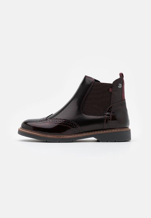 Boots à talons - bordeaux