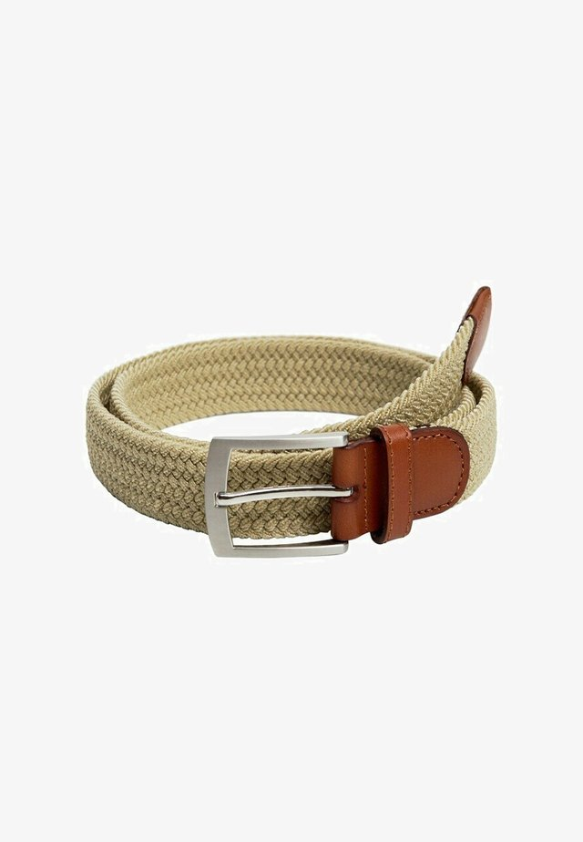 ELASTIC - Braided belt - beige