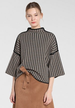 Pullover - karamell-schwarz