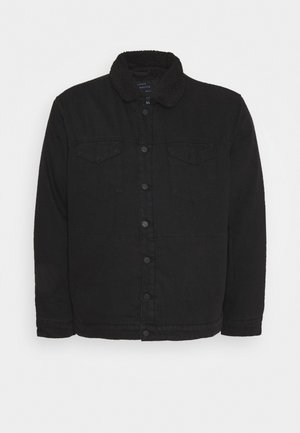 ONSJONNY LIFE TEDDY - Denim jacket - black denim