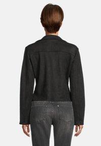 Amber & June - MIT GÜRTEL - Leather jacket - schwarz - 2