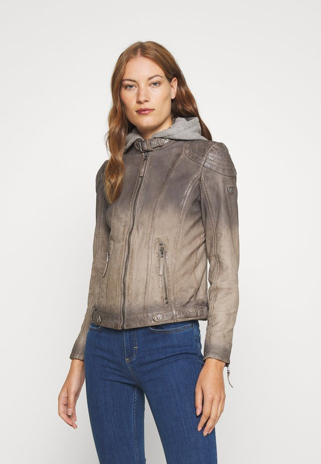 CASCHA LAMOV - Leather jacket - taupe