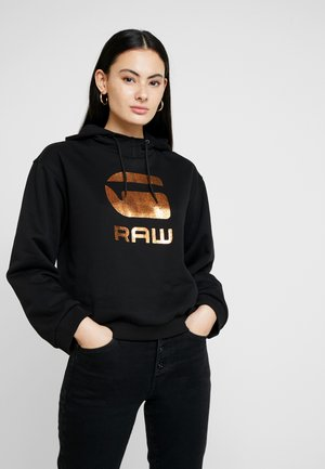 GRAPHIC LOGO LYNAZ HOODED - Sweat à capuche - dark black