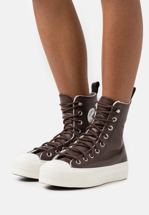 CHUCK TAYLOR ALL STAR LIFT - High-top trainers - dark root/egret/black