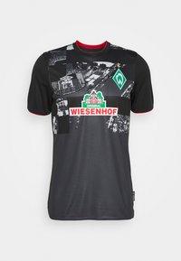 Umbro - WERDER BREMEN 3RD - Club wear - black/carbon/flame scarlet - 3