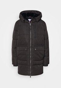 HOODED  - Cappotto invernale - black
