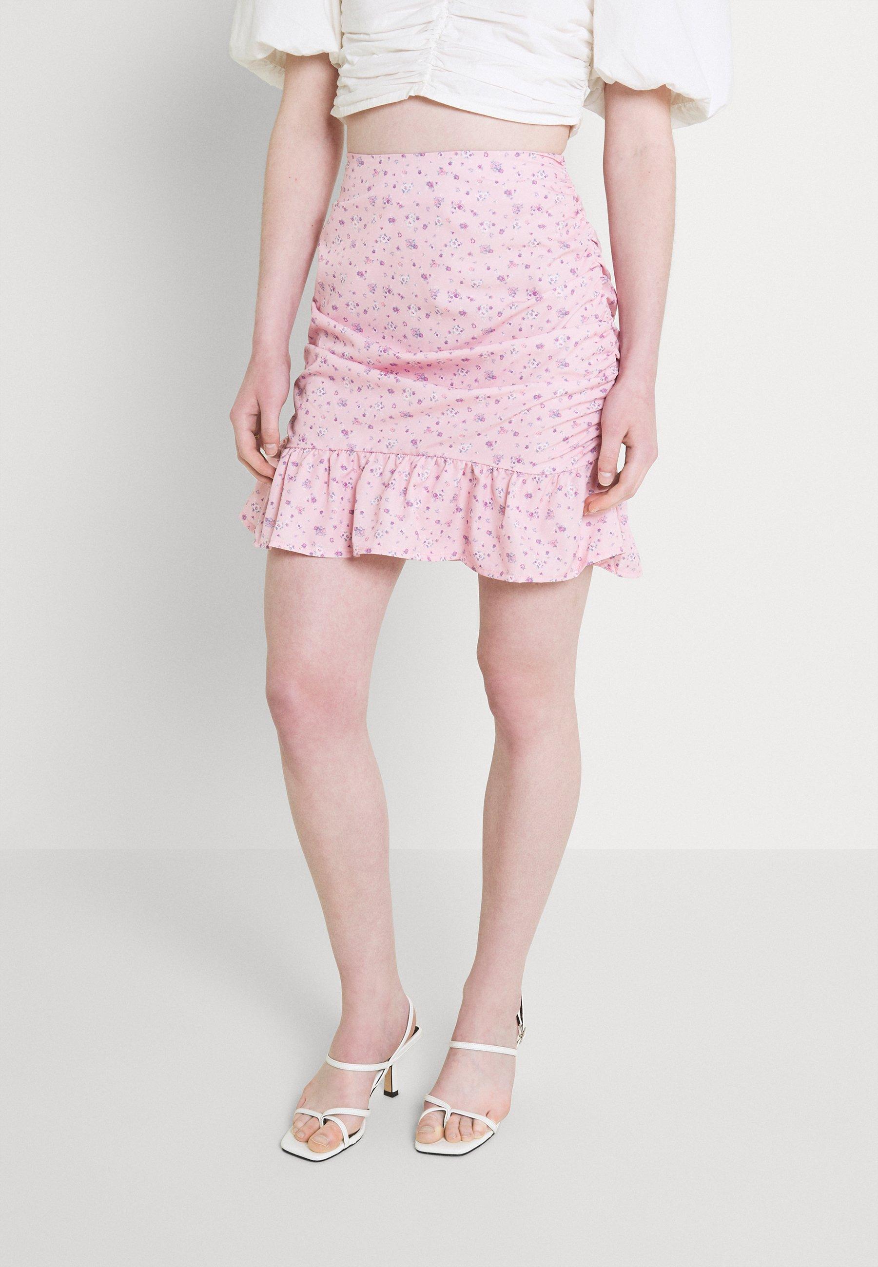 Women FRILL HEM MINI SKIRT  - Mini skirt